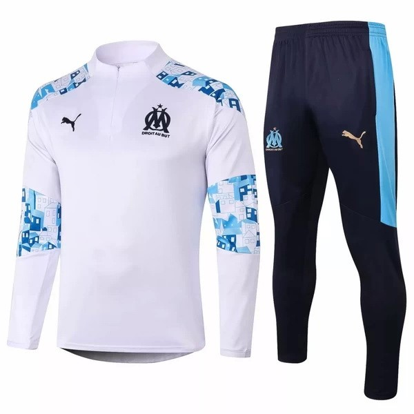 Trainingsanzug Marseille 2020-21 Weiß Blau