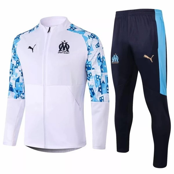 Trainingsanzug Marseille 2020-21 Blau Weiß