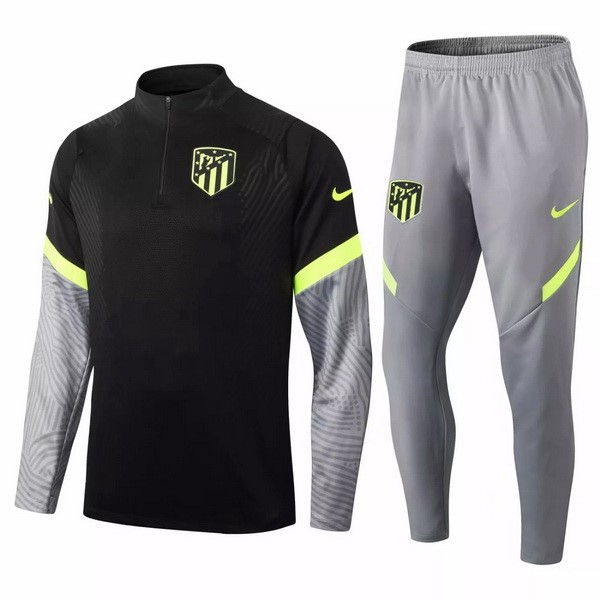 Trainingsanzug Atletico Madrid 2020-21 Schwarz Grau