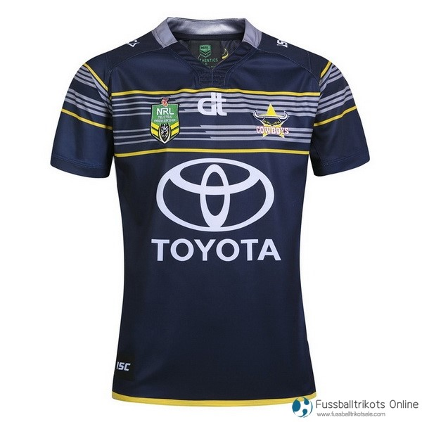 North Queensland Cowboys Trikot Heim 2017-18 Blau Rugby Shirts Günstig