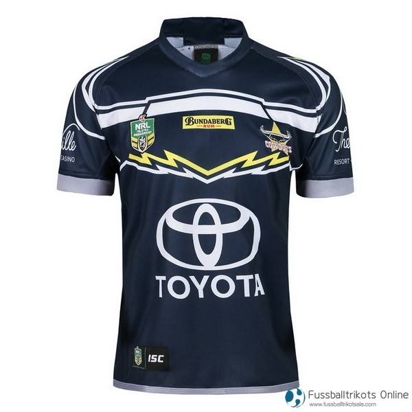 North Queensland Cowboys Trikot Heim 2018 Blau Rugby Shirts Günstig