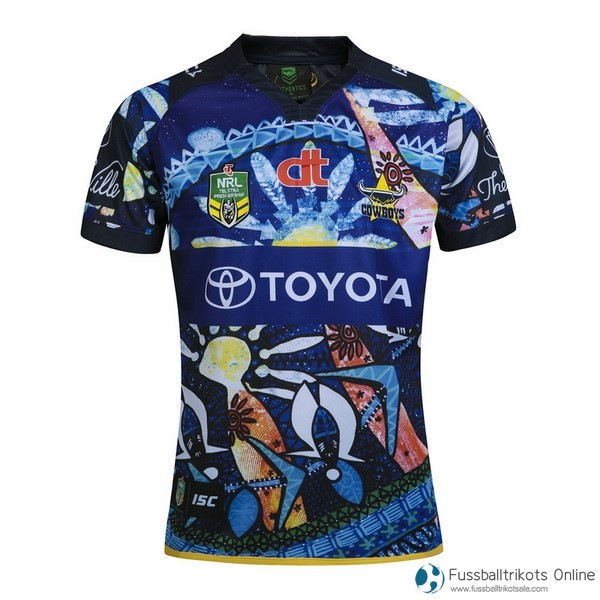 North Queensland Cowboys Trikot Indígena 2016 Blau Rugby Shirts Günstig
